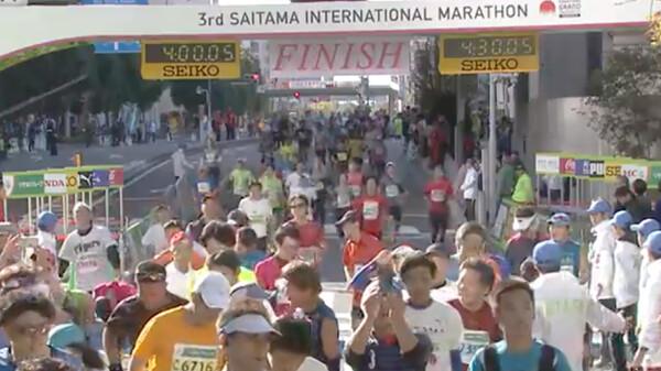 第3回さいたま国際マラソン ~フィニッシュシーン~ フィニッシュ映像 ~4時間台~ 一般フルマラソンの部 (男女)
