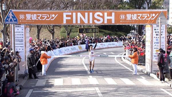 愛媛マラソン フィニッシュ映像 ~2時間台~