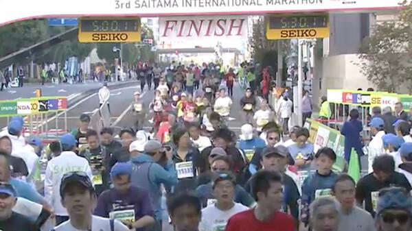 第3回さいたま国際マラソン ~フィニッシュシーン~ フィニッシュ映像 ~5時間台~ 一般フルマラソンの部 (男女)
