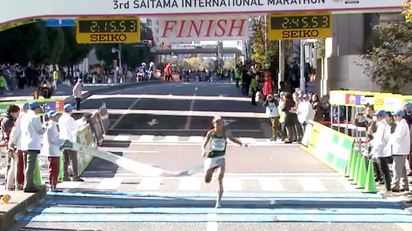 第3回さいたま国際マラソン ~フィニッシュシーン~ フィニッシュ映像 ~2時間台~ 一般フルマラソンの部 (男女)