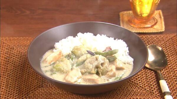 キユーピー 3分クッキング 2015年 第180話 なす、いんげん、鶏肉のココナッツミルク煮 (2015/8/1 放送)