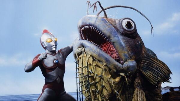 ウルトラマン80 ヘンテコリンな魚を釣ったぞ!